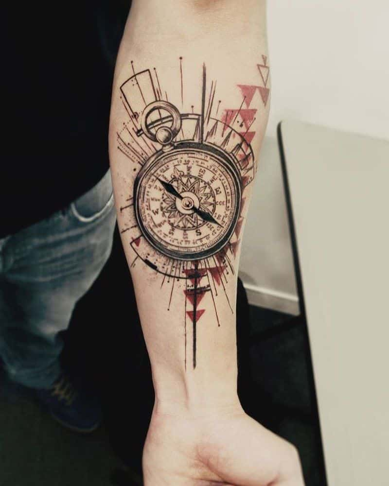 abstract tattoo on arm