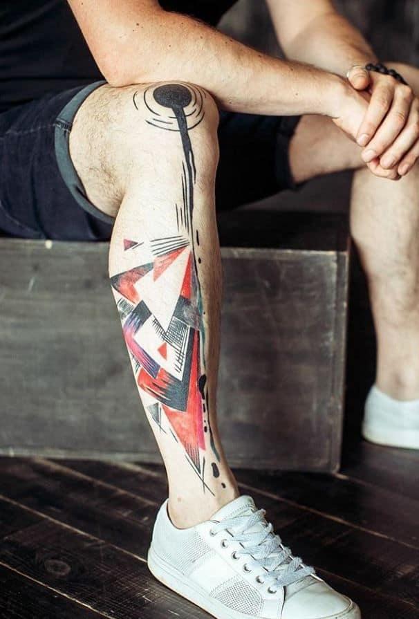 augmented reality leg tattoo