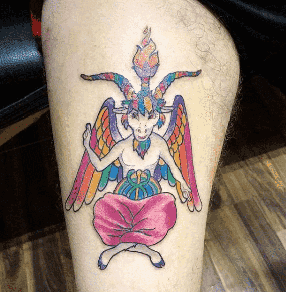 Animated Baphomet Tattoo