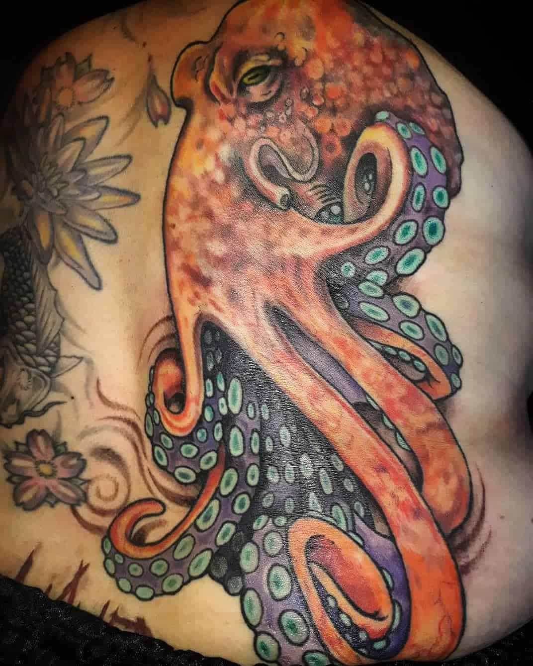 Octopus at Sea Tattoo