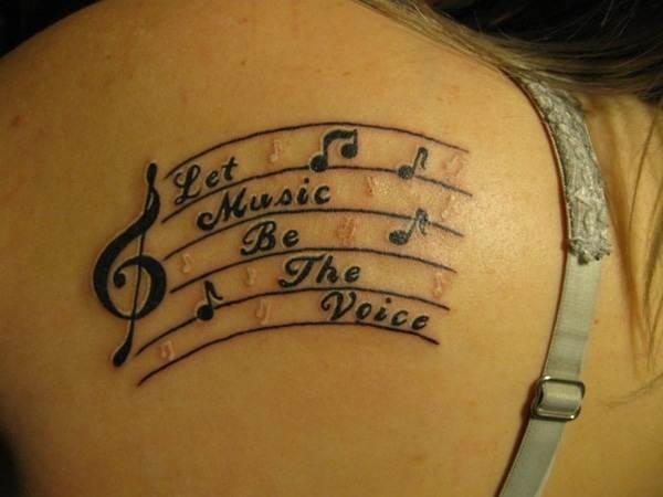 Music Quote Tattoo