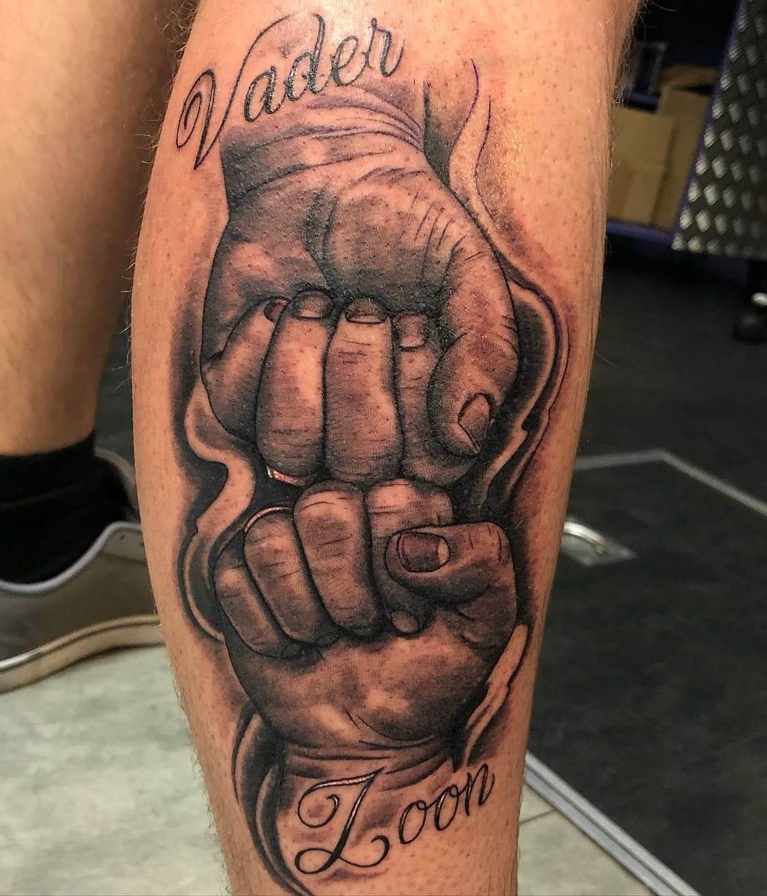 Fist Bump Kids Name Tattoo
