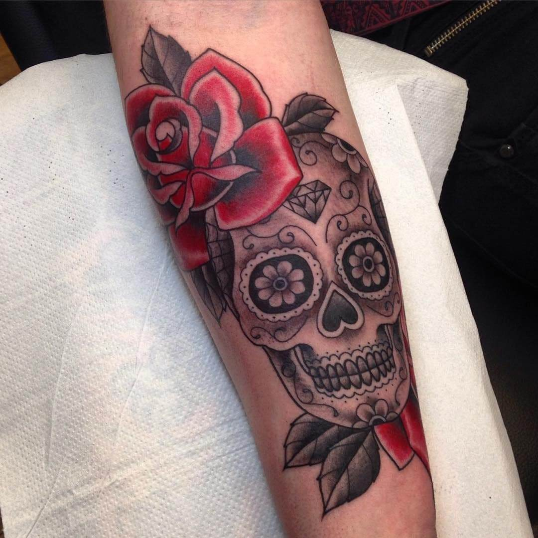 The Mexican Skull Rose tattoo