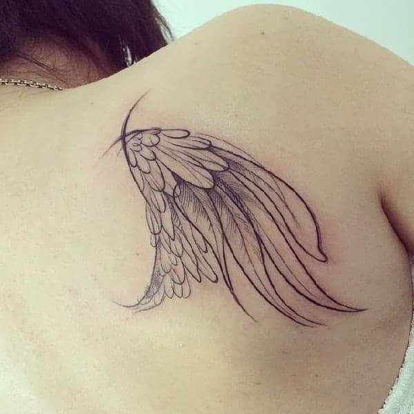 Angel Wings Sketch Tattoo