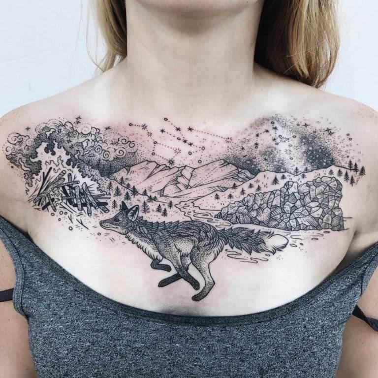 Naturist Constellation Tattoo
