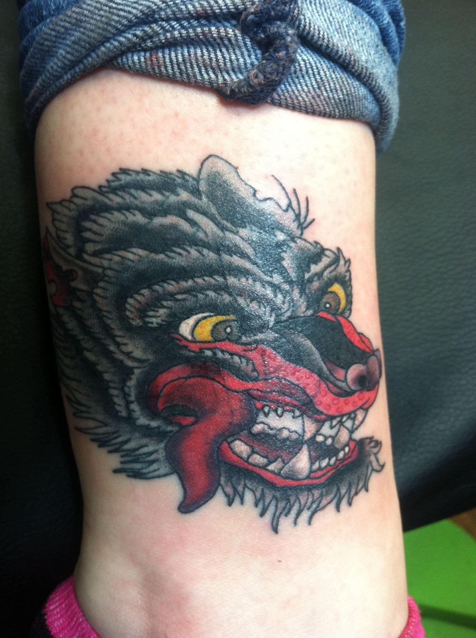 Japanese Wolf Tattoo