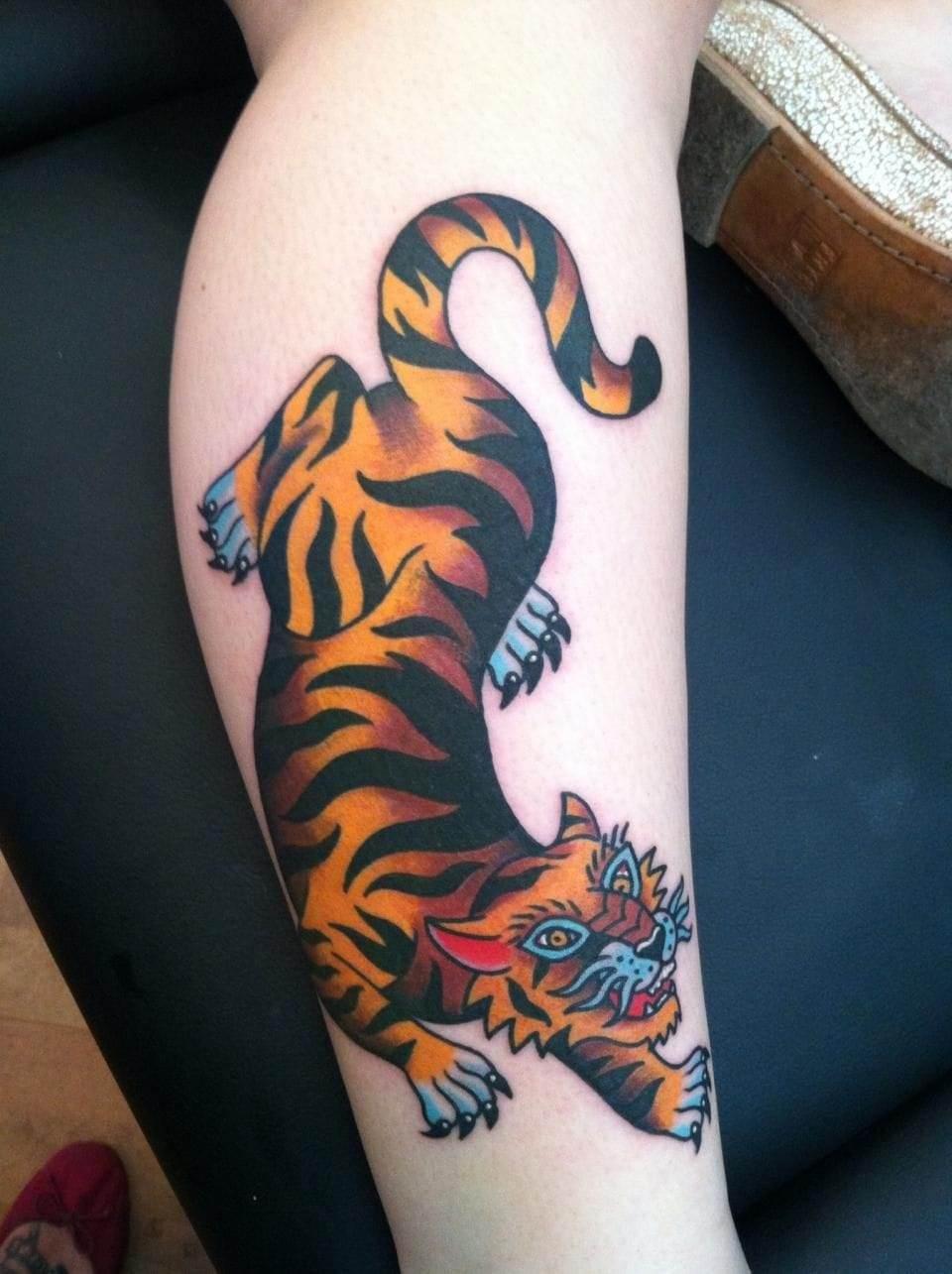 Chinese tiger tattoo