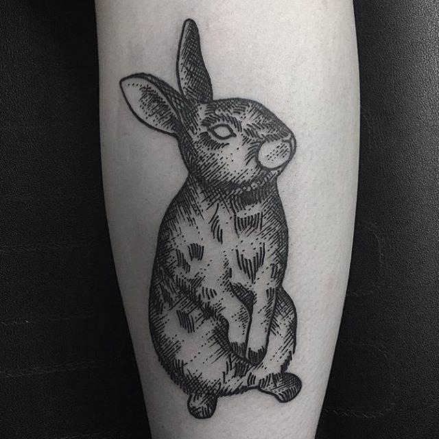 black rabbit tattoo