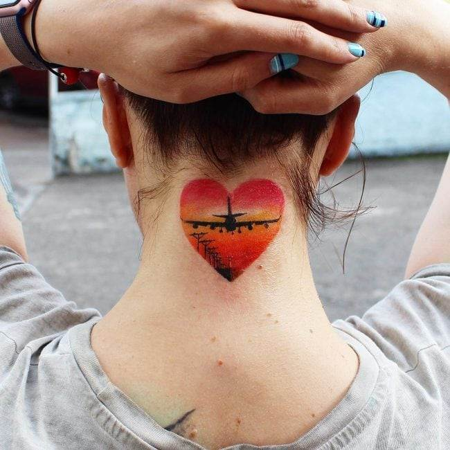 Stamped Heart Tattoo