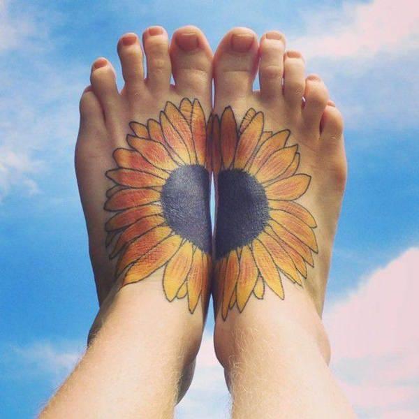sunflower-tattoos