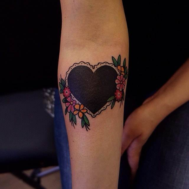 Black Heart Tattoos