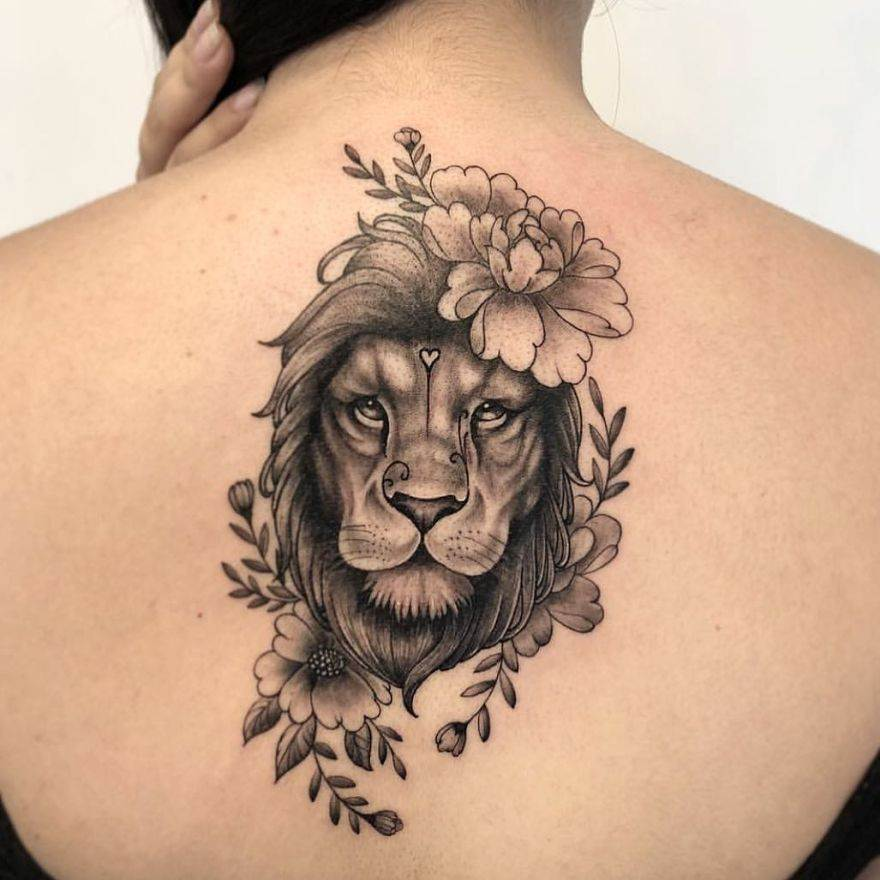 Lion Tattoos for female