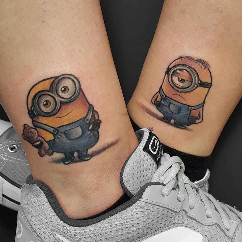 couple cartoon tattoos