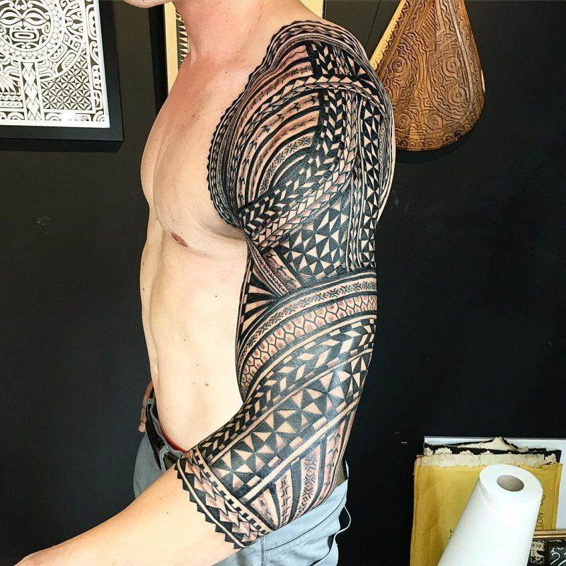 tribal sleeve tattoo