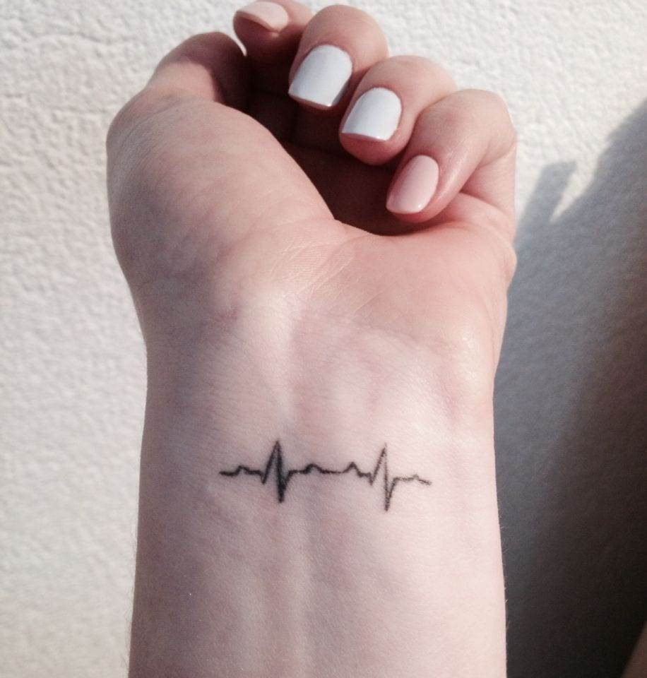 small heartbeat tattoo