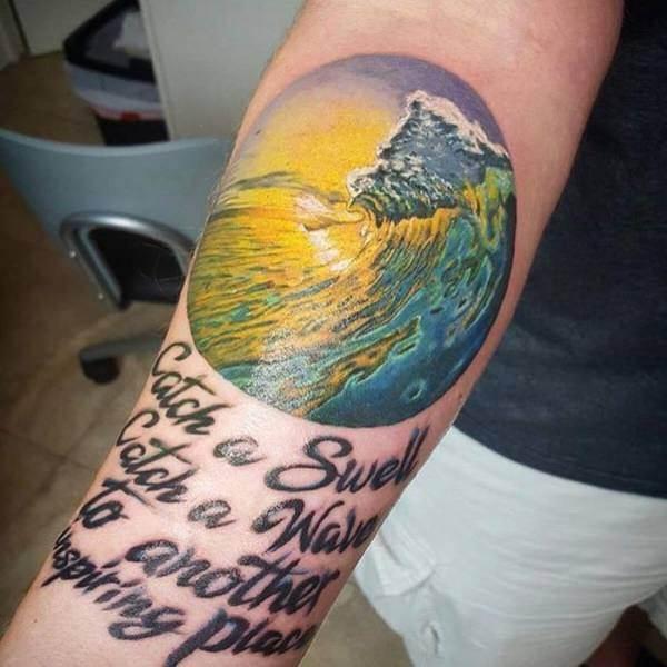 wave-tattoo design