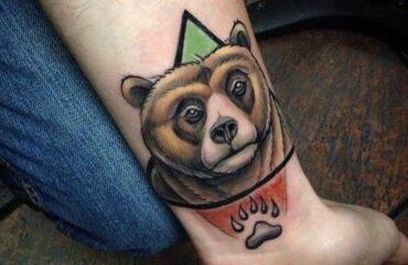 Unique Bear Tattoo Design