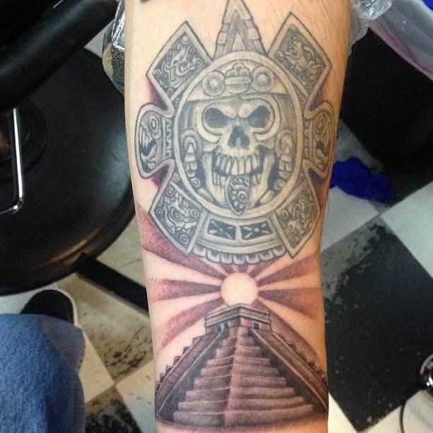 Aztec Pyramid Tattoo