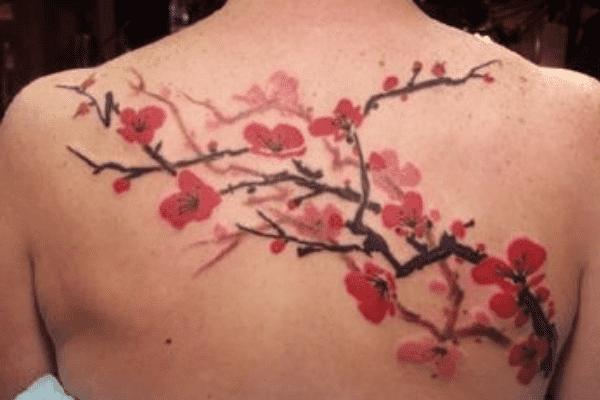 Cherry Blossom Back Tattoo