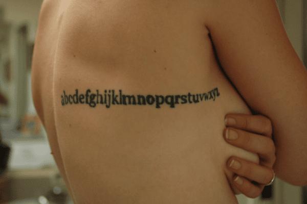 Alphabet Tattoo