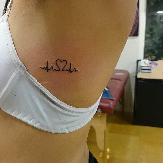 Heartbeat Tattoo for female
