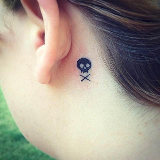 Sinister-Skull Tattoo for women