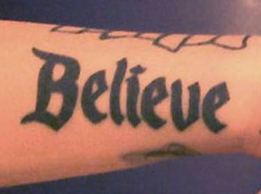 Ash Costellos tattoos - believe in yourself Tattoo