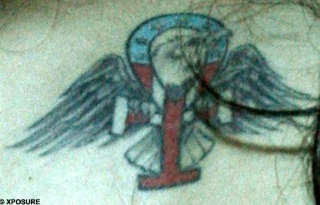 Amy Winehouse tattoos – ankh with wings