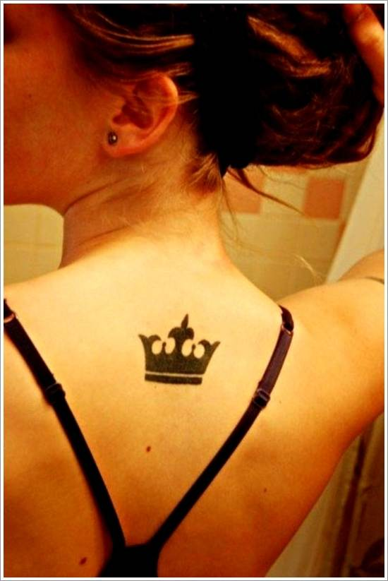 Crown Back Tattoo to Women
