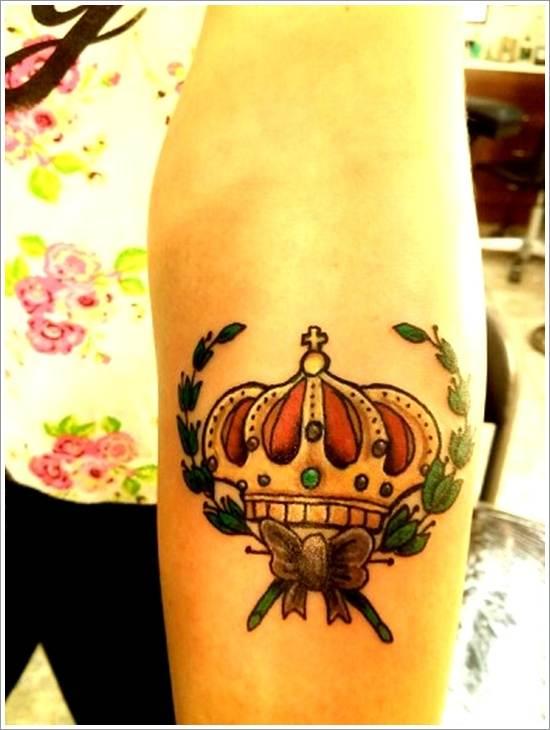 Unique Crown Tattoo Design