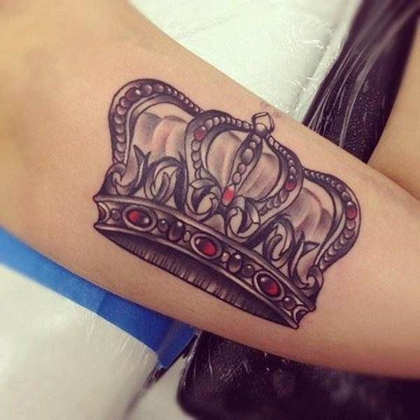 Stylish Crown Tattoo