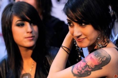 Alexia Rodriguez tattoos – Frankenstein's monster arm tattoo