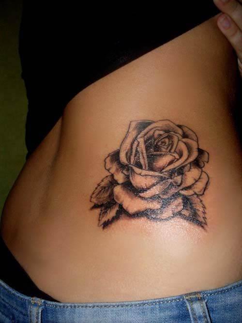 Waist Rose Tattoo