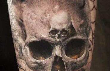 Watercolor Skull Tattoo Designs