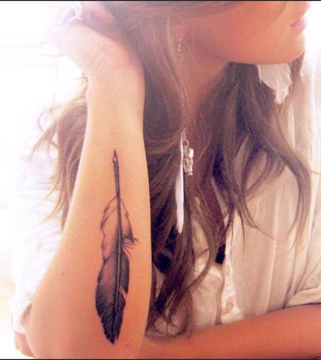 Black Feather Tattoo