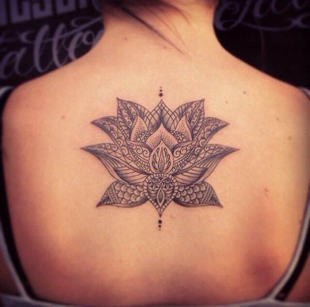 Back Lotus Tattoo