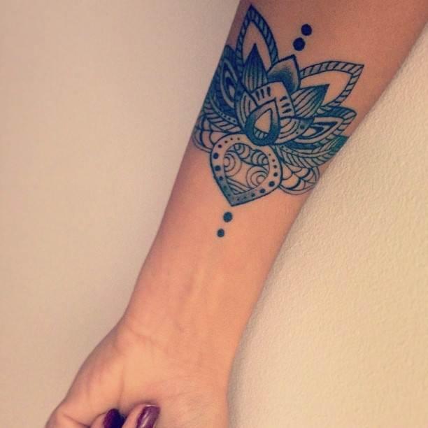 Hand Lotus Tattoo