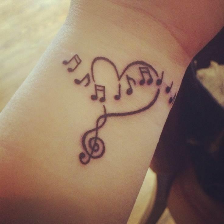 Pretty Music Tattoo