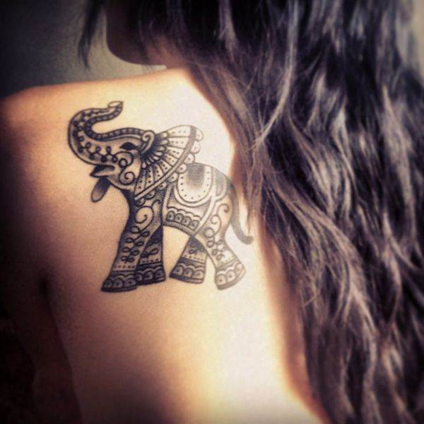 Pretty Elephant Tattoo