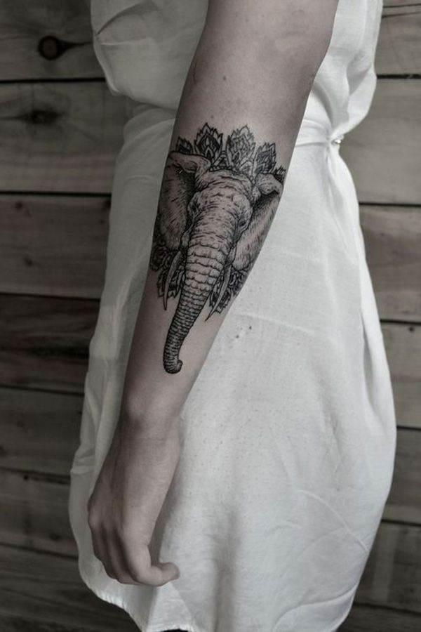 Stylish Elephant Tattoo