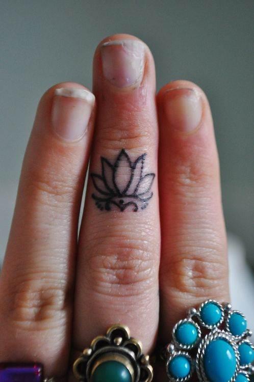 Mini Lotus on Finger