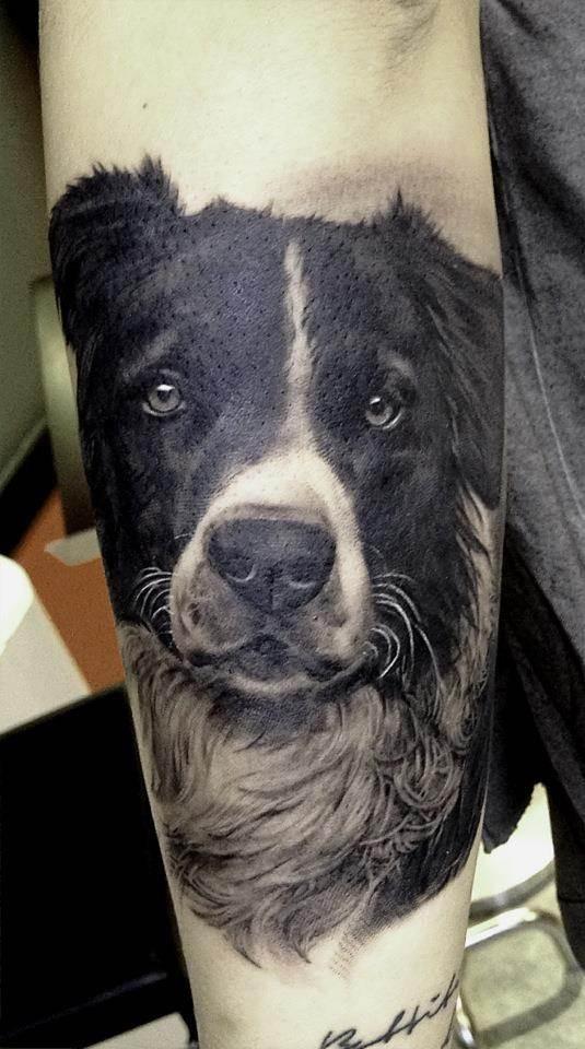 Super-real Dog Tattoo
