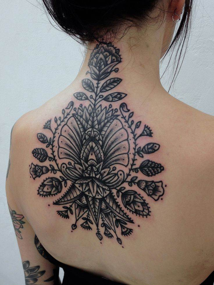 Floral Neck Tattoo
