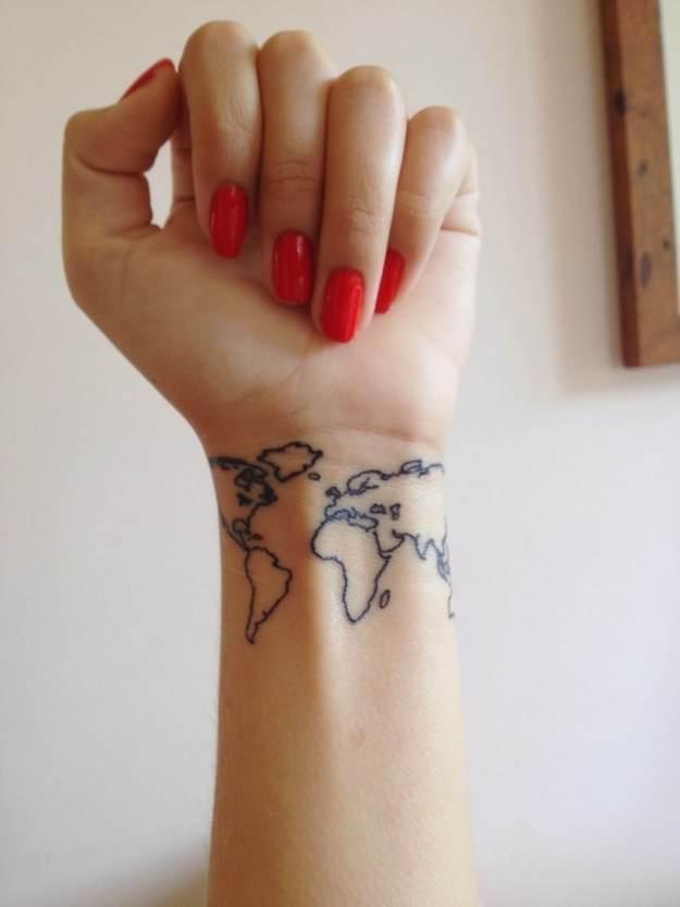 Map Tattoo on The Wrist