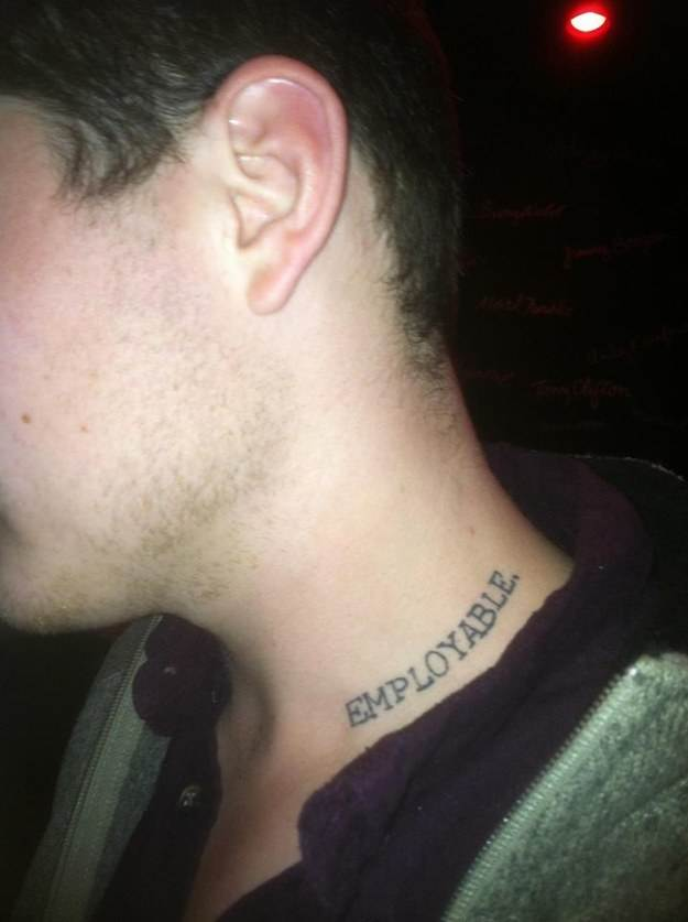 Word Tattoo for Man