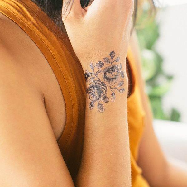 Wrist Blooms Tattoo