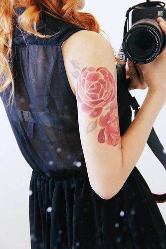 Pretty Flower Tattoo with No Line