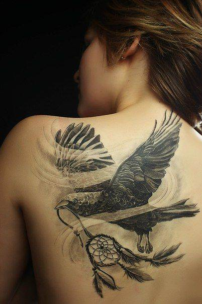 Stylish Bird Tattoo