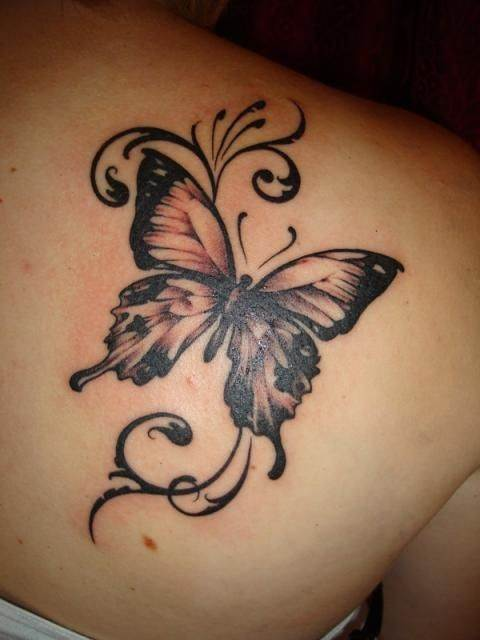 Butterfly Tattoo on Shoulder