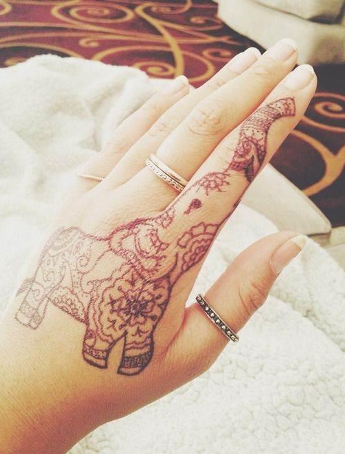 Elephant Hand Tattoo